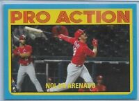 2021 Topps Throwback Thursday Nolan Arenado Blue Parallel #'d 02/10 Cardinals SP