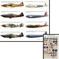 Adhesivos Mosquito Boulton WW2 MK1-6-16-2 Escala 1/72 Esci ZF1150 355G 37GB