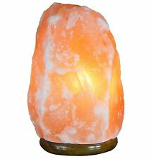 3-5KG Natural Ionising Himalayan Pink Rock Crystal Night Desk Lamp UK plug cable