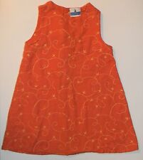 SERGENT MAJOR girls Orange Yellow Embroidered Linen Cotton DRESS* 3T 3