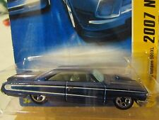 Hot Wheels 1964 Ford Galaxie 500XL 2007 New models Blue (Clear plastic dented)
