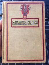 Munchausen XX By The Baron Rare 1904 Adventure Action Collectible Book