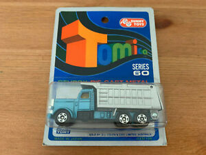 Tomica American Dump Truck on Blue Card Made For G.J Coles Melbourne Australia