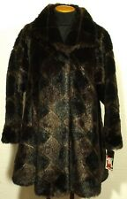 vintage NEW WITH TAGS women's OLYMPIA faux fur jacket size SMALL