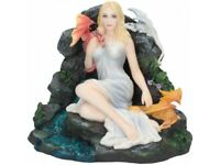 Maiden And The Dragonlings Statue Nemesis Fairy With Dragons Ornament Figurine
