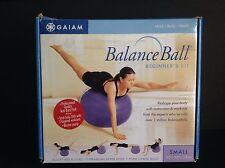 Gaiam Balance Ball Beginner's Kit Small 55cm 3 Workout DVD & Pump Bonus