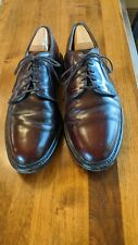 Allen Edmonds Leeds Shell Cordovan Plain Toe Blucher 10 D
