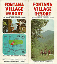 Fontana Village Resort North Carolina  Vintage 1970's Brochure Color Photos Map
