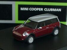 Herpa New Mini Cooper CLUBMAN, bordeaux-met. - 025 - 1/87
