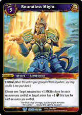 WOW WARCRAFT TCG THRONE OF TIDES : BOUNDLESS MIGHT X 3