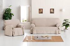 funda universal de lazos para sofá Constanza Eysa fundas de sofa 1,2,3 plazas