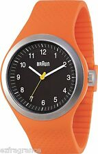 Braun Silicone Sport Watch,164 ft. Water & Scratch-resistant mineral glass face.
