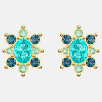 Authentic NIB $79 Swarovski Lucky Goddess Pierced Stud Earrings Blue #5461791