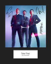 TAKE THAT #3 10x8 SIGNED Mounted Photo Print - FREE DELIVERY