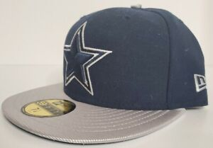 Dallas Cowboys New Era Fitted Cap 7 1/8 59FIFTY Navy/Grey/White New with Tags