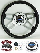 """1978-1991 Ford pickup steering wheel BLUE OVAL 13 1/2"""" 4 SPOKE"""