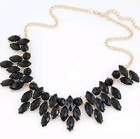 Maxi Kette Collier gold schwarz Choker Halskette Damen Valentinstag Geschenk NEU