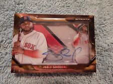 Pablo Sandoval Red Sox 2015 Strata On Card Auto/Patch Game Used 2/5