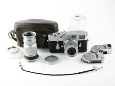 Leitz Wetzlar Leica M2 + Elmar f=5cm 1:2.8 Elmar 1:4/90 + Meter MC MR + Tasche