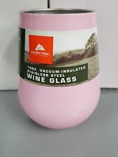 New Pink Ozark Trail 14 OZ. Vacuum-Insulated Stainless Steel Wine Glass