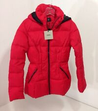 ASOS WOMEN'S HOODED PUFFER JACKET RED US SZ 0 NWT