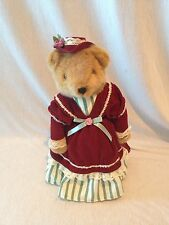 Avon Collectible Stuffed Victorian Brown Plush Bear With Stand 14""