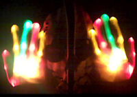 NEW! RASTA RED ORANGE GREEN XBone L.E.D Gloves Rave Burning Man Light Gloves