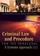 Criminal Law and Procedure for Paralegal Sandra McCord James McCord pbk 4th ed