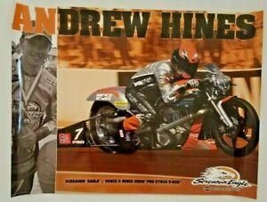 Vintage Poster 2014 Andrew Hines Harley Davidson V-Rod NHRA Pro Stock Eagle