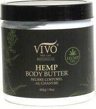 1 Vivo Per Lei Botanical 16 Oz Hemp Oil Moisturizing Lightly Scented Body Butter