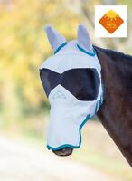 Shires Ultra Pro Full Face + Ears & Nose Mesh Fly Mask High UV Sun Protection