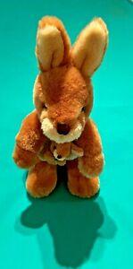 Kangaroo Korimco Jackie the Kangaroo Soft Plush Toy 27cm high Joey in pouch