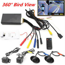 Panoramic Bird View Car Parking Camera Recorder System Front/Side/Rear Cam Kit