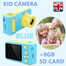 "Blue Waterproof Kid Digital HD Camera 2"" Display Gift For Children+8GB SD Card"