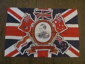 King Edward VIII large flag Coronation 1937 British Made 35 x 24 inches