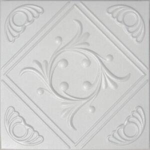 """Ceiling Tiles Glue Up, BEST SELLER ! Decorative Styrofoam, ANET 20"""" x 20"""" White"""