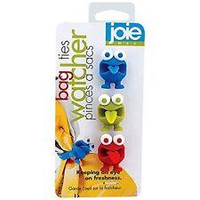 NEW Joie Watchers Bag Ties (Set of 3) KItchen Fun Cute storage