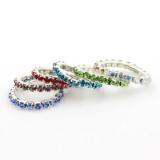 Fashionable crystal invisible toe ring gold red  blue topaz hip hop stretchable