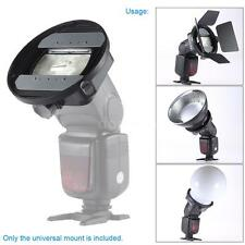 Universal Flash Speedlite Mount Bracket Adapter Barn Door Refelctor Holder Q8J8