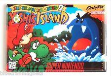 Super Mario World 2: Yoshi's World FRIDGE MAGNET (2.5 x 3.5 inches) video game