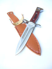 "АК 47 AK Bayonet Style Knife, Scabbard, 5,7"" Blade, Wood, NEW !"