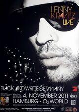 KRAVITZ, LENNY - 2011 - Konzertplakat - Black & White - Tourposter - Hamburg
