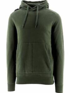 MA.STRUM Men's Core Overhead Hoodie Cotton Green Casual Warm Pullover Sweatshirt