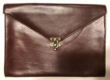 Clark & Madison Briefcase Document Holder Leather Made In America Laptop Case
