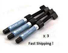 3 x  NEW Prime-Dent A2 4.5 g Light Cure Hybrid Dental Resin Composite Syringe