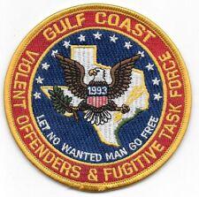 GULF COAST TX VIOLENT OFFENDERS FUGITIVE TASK FORCE YELLOW BORDER  ARROW USMS