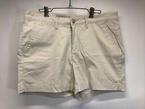 "Sonoma Mid-rise Rainy day Twill Shorts 5"" inseam  Khaki Size 10 tan NWT"