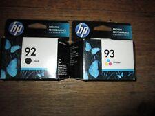 New Genuine HP 92 Black & 93 Color Ink Cartridge Set Sealed HP Cartons 2013