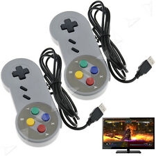 2X USB Retro Game Controller Joypad Wired Super Game Pads For Nintendo SNES