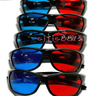 5PCS Black Frame Red Blue 3D Glasses For Dimensional Anaglyph Movie Game DVD CIT